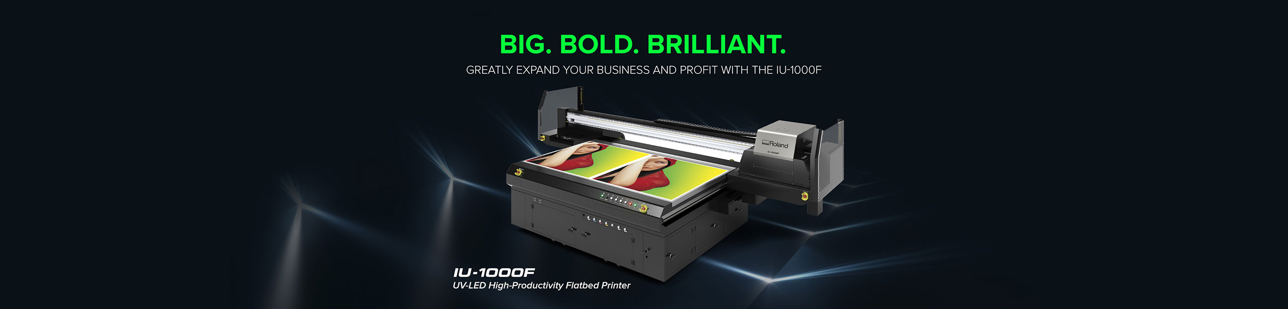 Roland UV LED Flatbed printer IU-1000F